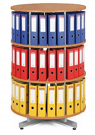 Archivace pořadačů do otočných regálů