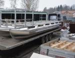 Pontony pro rybářství, vodní sporty a rekreaci, základny pro houseboaty