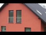 Nerez zábradlí na francouzská okna s různou výplní v e-shopu