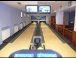 Bowling bar jako součást restaurace a kavárny Scéna v Kroměříži