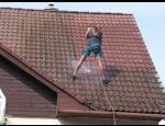 Čištění střech a prevence znečištění ochrannými prostředky, nátěry podbití