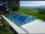 Zastřešení bazénů, příslušenství a stavební práce při instalaci