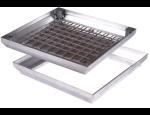 Neviditelné hliníkové poklopy ALUPURA pro osazení dlažbou, plovoucí podlahou