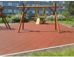 Pryžová dlažba pro dětská hřiště a pochůzkové či parkovací plochy