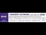 Ochrané značení čelních, zadních i bočních autoskel bezpečnostním kódem metodou pískování