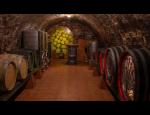 Vína z vlastní produkce označená firemním logem, víno jako reklamní předmět