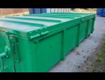 Kontejnery pro sběrné dvory na tříděný odpad, vanové, stohovací a skladové kontejnery