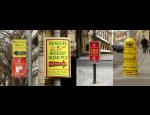 Venkovní reklama, reklamní poutače a navigace na sloupech veřejného osvětlení