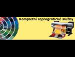 Kompletní reprografické služby, černobílý a barevný tisk a kopírování