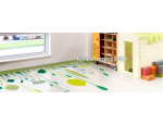 Renovace podlahovin, aplikace PU COLOR pro barevný vzhled s možností grafiky, intarzie či loga firmy