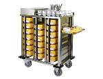 Transportní vozíky pro pohodlný rozvoz prádla, léků, gastronádob a tabletových systémů
