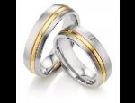 Snubní prsteny z bílého, žlutého a červeného zlata, prsteny s brilianty či zirkony