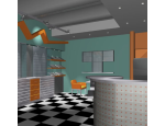 Návrhy interiérů rodinných domů i bytů, veřejných objektů a institucí, 3D vizualizace