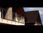Moderní  hliníkové a skleněné zábradlí do exteriéru i interiéru rodinných domů