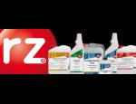 Ochrann� a �istic� produkty zna�ky RZ pro podlahy, koberce, obklady a dla�bu