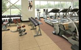 DURAFLEX, umělý sportovní povrch pro posilovny a fitness centra