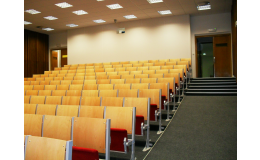 Kinosál na Vyšší odborné škole sociální v Ostravě