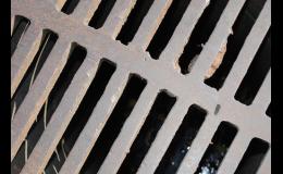 Kanalizační poklopy, litinové mříže, lapače