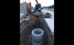 Budování, rekonstrukce kanalizační sítě, vodovodů - BADIN s.r.o.