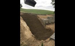 Budování brodu, zemní práce a terénní úpravy Brněnsko