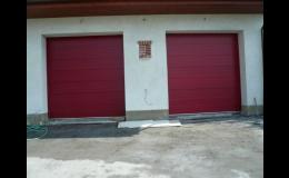 Sekční garažová vrata lamelová - Valašské Meziříčí