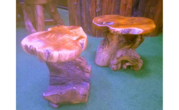 Originální teakové taburety, kvalitní teakový nábytek