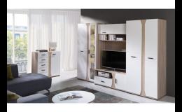 Výběr obývacích stěn v e-shopu na webu nabytek-aktiv.cz
