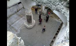 Pokládka betonové podlahy