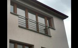 Výroba nerezového zábradlí k francouzským oknům