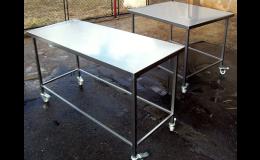 Pojízdné pracovní stoly z nerezu - Nerez Výroba Jež s.r.o.