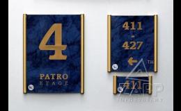 Informační systém PLATO ke značení interiérů budov