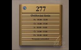 ZAPP INFOSYSTÉMY Praha nabízí informační tabule, orientační panely
