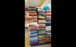Bytový textil, ručníky, osušky, povlečení, prostěradla