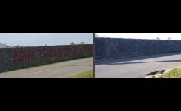 Odstranění graffiti - Čištění fasád Zlín