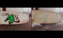 Antigraffiti servis - čištění fasád, zdí, výtahů, dveří, garáží