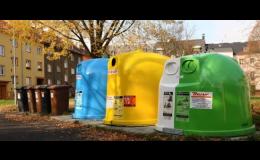 Barevné kontejnery pro správné třídění odpadu