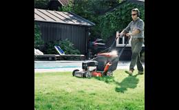 Zahradní traktory, sekačky, křovinořezy, plotové nůžky