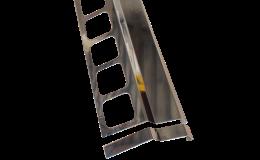 Balkonový okapový profil Profila v nerezovém provedení