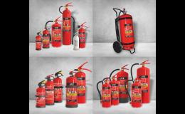 Prodej hasicích přístrojů různých typů