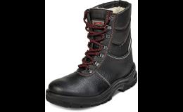 Zateplená bezpečná zimní obuv s protiskluzovou podrážkou