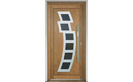 Vstupní plastové dveře s dlouhou životností Slovaktual Zlín