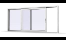 Posuvné plastové dveře zdvižně posuvné do rodinných domů