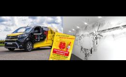 Reklamní polepy dodávek, osobních vozů, kamionů