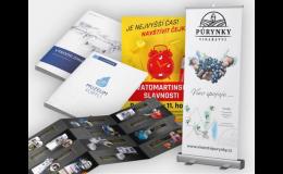 Tvorba grafických návrhů, tisk katalogů, brožur, kalendářů