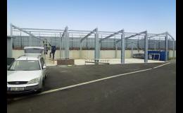 Výroba a montáž ocelových konstrukcí pro zemědělské haly