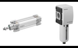 Pneumatické prvky, solenoidové ventily, pulsní ventily Asco