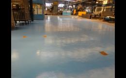 Odolné lité průmyslové podlahy z epoxidové stěrky