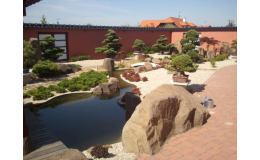 Realizace okrasných zahrad s jezírkem - Jezírko Servis Zlínský kraj