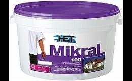Fasádní akrylátové barvy HET - parapropustné, omyvatelné