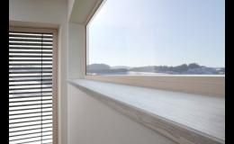 Vnitřní okenní parapety řady Trend